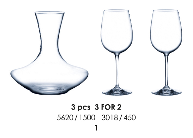 set kalichov s karafou HOME SETS 3 FOR 2 1500/450 ml *dopredaj