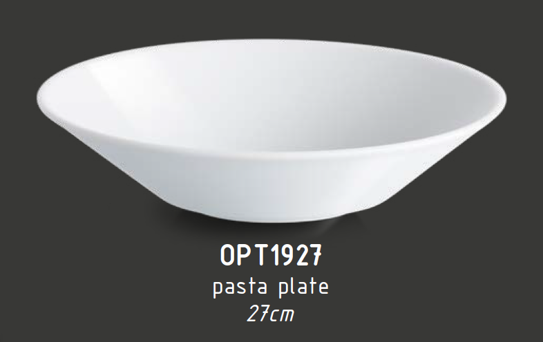 Pasta tanier hlboký 27 cm OPTIMO white glazed