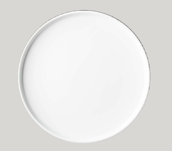 Tanier plytký rovný (pizza) 30 cm OPTIMO white glazed