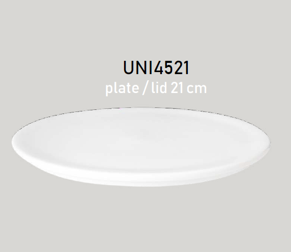 Tanier plytký / poklop 21 cm OPTIMO white glazed